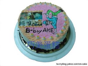 相片+街舞造型蛋糕