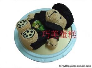 一起去旅行熊熊造型蛋糕