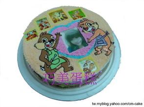 相片+奇奇蒂蒂造型蛋糕