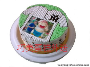 相片+洋基球衣造型蛋糕