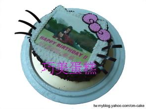 相片+KITTY造型蛋糕