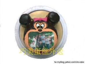 米妮造型+相片蛋糕