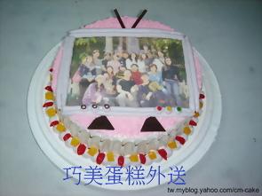 電視造型的相片蛋糕