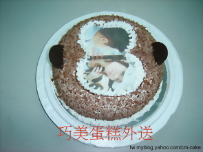 猴子造型的相片蛋糕