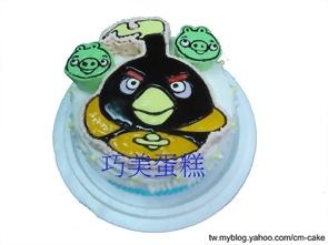 太空版炸彈鳥2D造型蛋糕