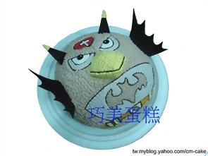 蝙蝠版的憤怒鳥造型蛋糕