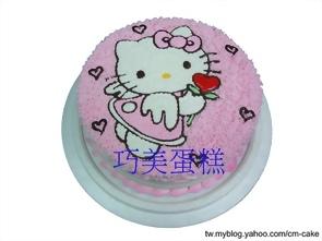 天使KITTY造型蛋糕