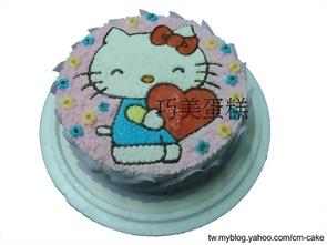 愛的KITTY造型蛋糕