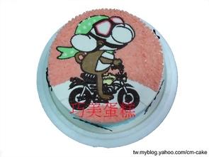 猴子騎摩托車造型蛋糕
