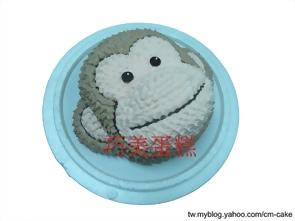 猴子(頭)造型蛋糕