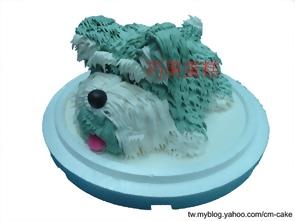 雪納瑞小狗造型蛋糕