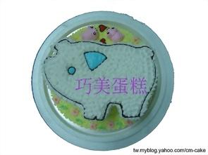小白豬造型蛋糕