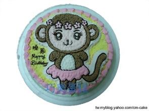 小猴子(女生)造型蛋糕