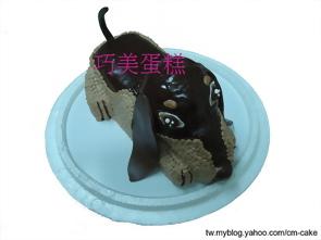 臘腸狗造型蛋糕