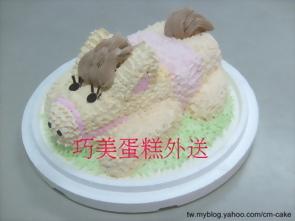 可愛小馬造型蛋糕