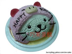 小海豹想扮豬造型蛋糕