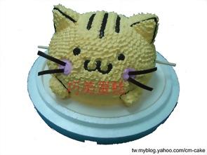 貓咪丸子造型蛋糕