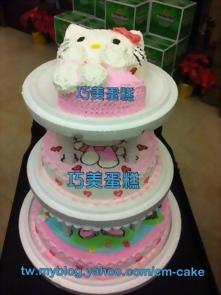 KITTY三層造型蛋糕