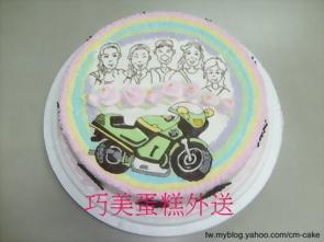 手繪漫畫版造型蛋糕