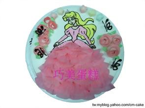 美人魚公主禮服造型蛋糕