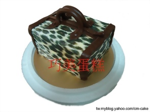 黑色柏金包造型蛋糕