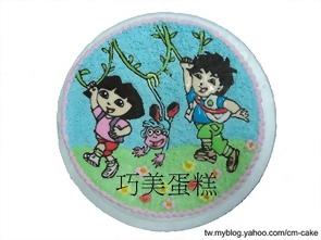 Dora和Diego和Map造型蛋糕