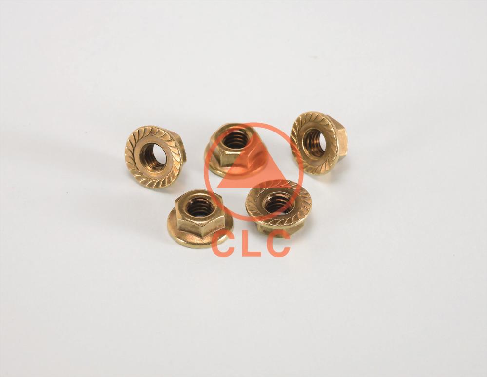 38 BRASS HEX FLANGE NUT / DIN6923/JISB1190