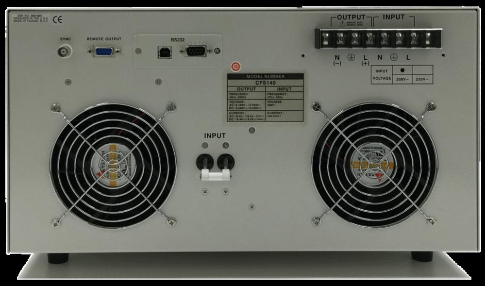CFS100 系列單相可程式設計交流和直流電源來源 1