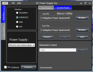直流電源 GUI 軟體可程式設計直流電源供應控制軟體 1