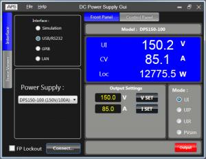 直流電源 GUI 軟體可程式設計直流電源供應控制軟體 2