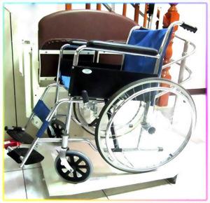 彎軌式雙人及輪椅兩用升降台