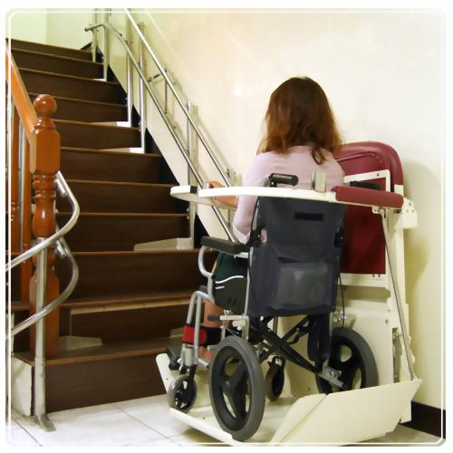 單人輪椅樓梯升降平台