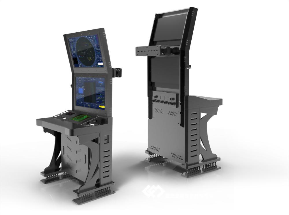 船用24吋雙螢幕操控台