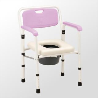 鐵製軟墊收合便器椅