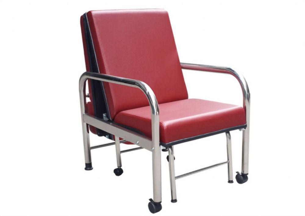 加寬型坐臥兩用陪伴床椅(不鏽鋼)