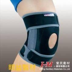 棉質展開式矽膠護膝
