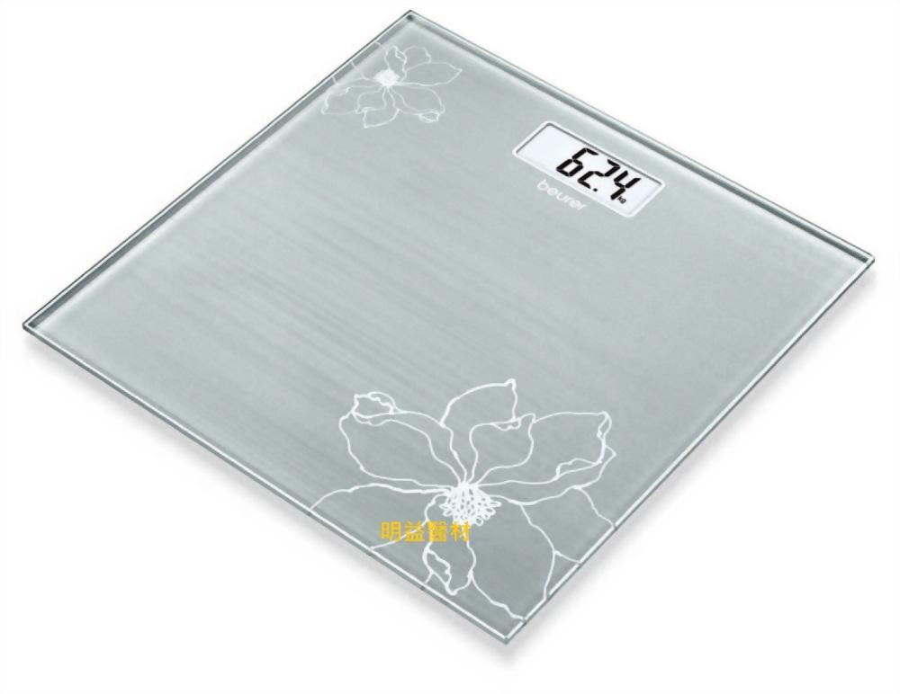 德國博依典雅花卉玻璃體重計