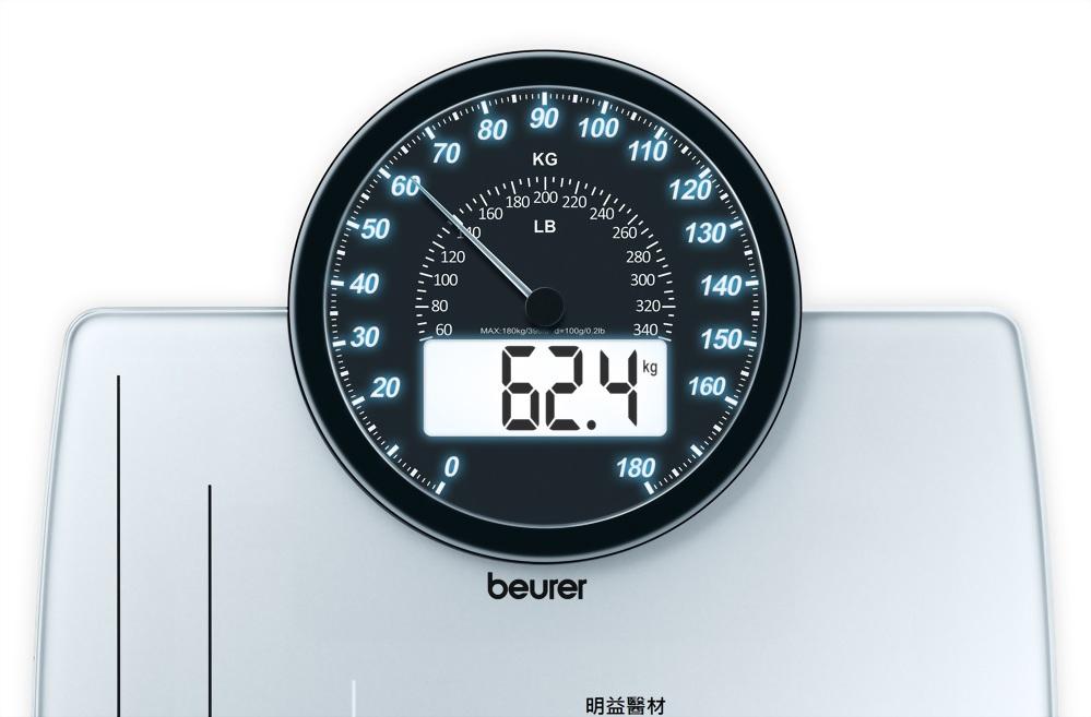 指針數位雙顯示電子體重計