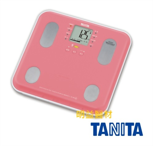 TANITA 自動顯示功能九合一體組成計 (粉紅)