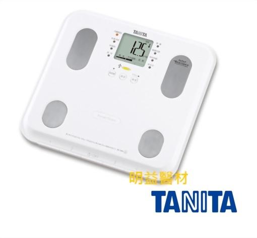 TANITA 自動顯示功能九合一體組成計(白)