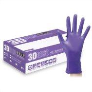 3D波紋超強止滑NBR手套  紫色(50支/盒) M