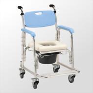 鋁合金有輪洗澡便器椅