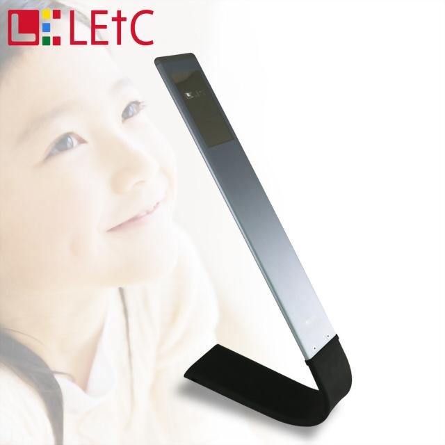 LETC 6.25W無線觸控護眼LED檯燈-黑