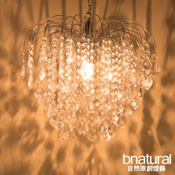 bnatural 鍍鉻六層透明壓克力珠噴泉吊燈(BNL00034)