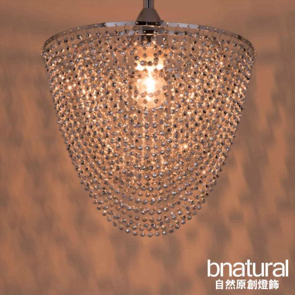 bnatural 鍍鉻圓形壓克力珠吊燈(BNL00020)