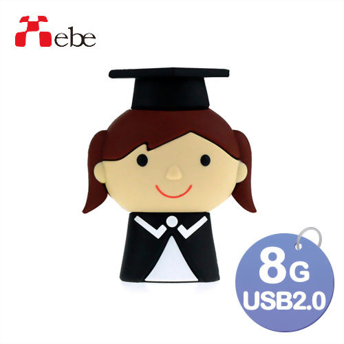 Xebe集比 8G 女畢業生造型USB隨身碟