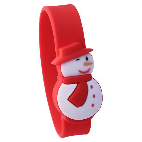Xebe集比 8G 雪人聖誕手環USB造型隨身碟