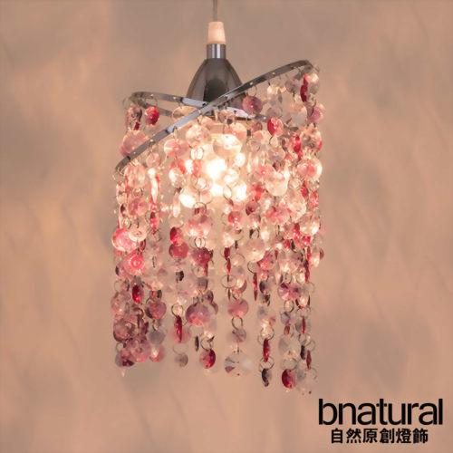 bnatural 鍍鉻銀鐵花邊壓克力珠吊燈(BNL00040)