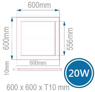 LED無閃頻可調光側發光平板燈