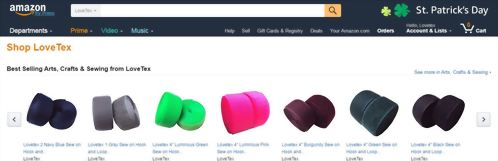 Online shopping for LOVETEX at Amazon.com